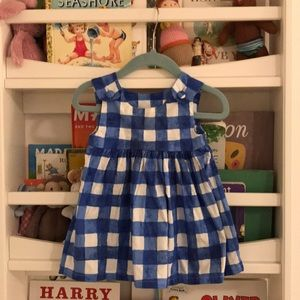 Blue and White Watercolor Gingham Dress 🖼